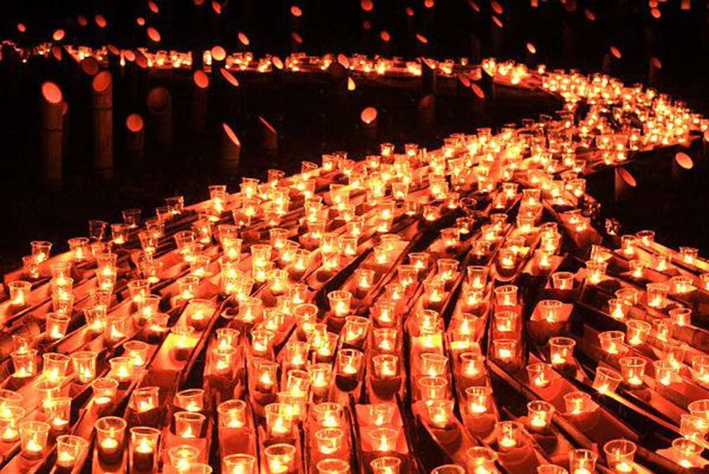 Bamboo lantern festival in Usuki City