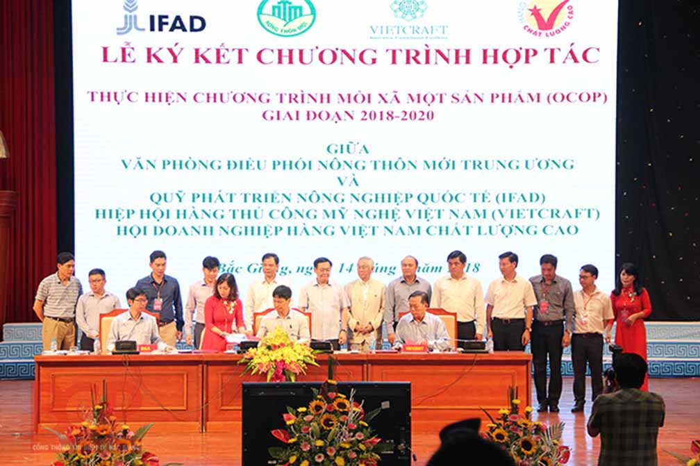 Vietcraft signed an  agreement with OCOP Vietnam